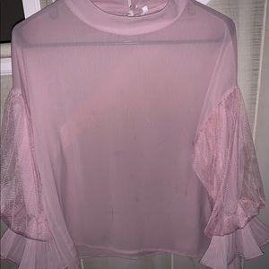 SHEIN Sheer Pink 👚 Blouse